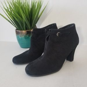 Aerosoles Black Suede Booties